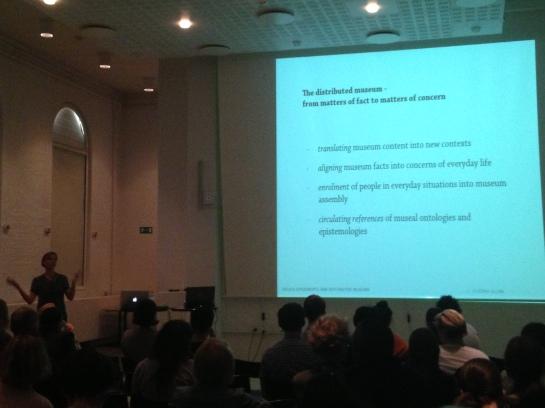 Dagny Stuedahl presenting