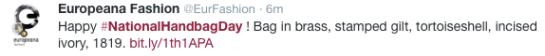 @EurFashion tweet 1:00 PM - 10 Oct 2014