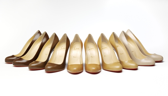 'Fifi' pump in five nude shades, designed by Christian Louboutin Ltd, 2013. Photo © Victoria and Albert Museum, London