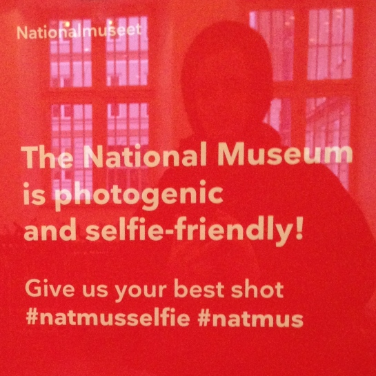 Sign welcoming guests at Nationalmuseet, Denmark